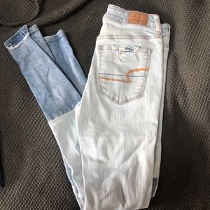 ADORABLE AMERICAN EAGLE PATCHWORK JEANS